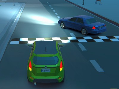 3D Night City: 2 er Racing
